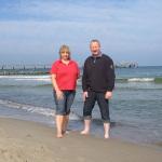 mit Ehefrau Ines im Jahr 2007 an der Ostsee