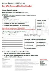 WM Tippspiel Bestellfax