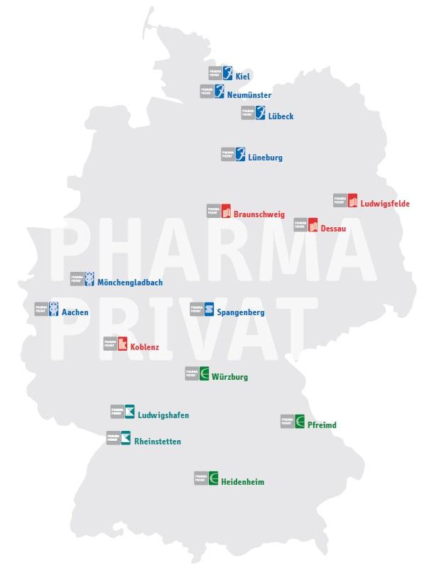 PHARMA PRIVAT Deutschlandkarte