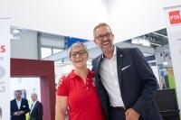 Thorsten Kujath, Bayer, mit Carolin Kiesewetter
